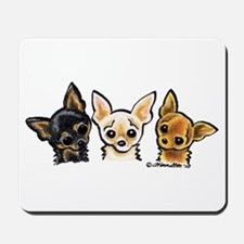 3 Smooth Chihuaha Mousepad
