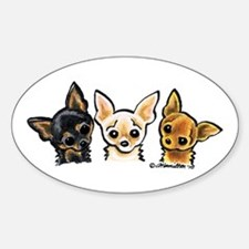 3 Smooth Chihuaha Decal