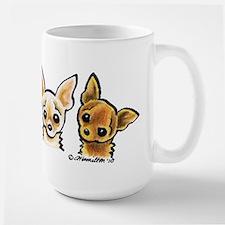 3 Smooth Chihuaha Large Mug