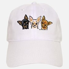 3 Smooth Chihuaha Baseball Baseball Cap