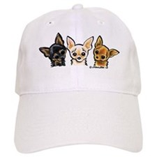 3 Smooth Chihuaha Baseball Cap
