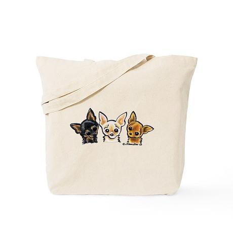 3 Smooth Chihuaha Tote Bag