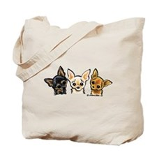 3 Smooth Chihuaha Tote Bag