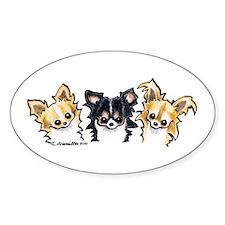 3 L/H Chihuahuas Decal