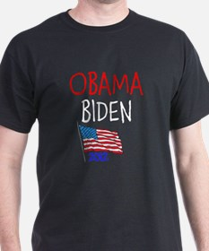 OBAMA BIDEN FLAG 2012 T-Shirt