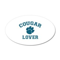 Cougar lover 22x14 Oval Wall Peel