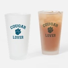 Cougar lover Drinking Glass