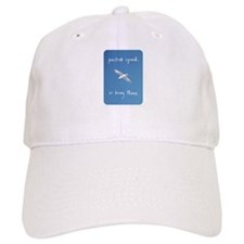 perfect speed is being there - handwritten Cap