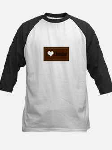 """I Love Chocolate"" Kids Baseball Jersey"