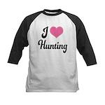I Love Hunting Kids Baseball Jersey