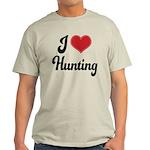 I Love Hunting Light T-Shirt