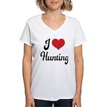 I Love Hunting Women's V-Neck T-Shirt