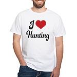 I Love Hunting White T-Shirt