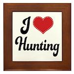 I Love Hunting Framed Tile