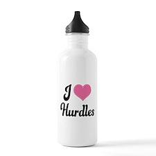I Love Hurdles Water Bottle