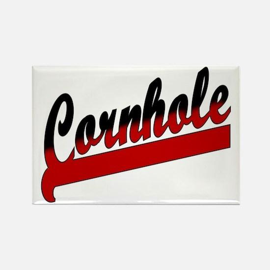 Cornhole Swoosh Rectangle Magnet (10 pa