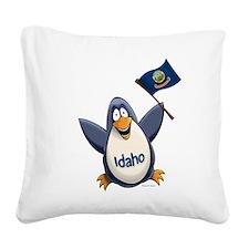 Idaho Penguin Square Canvas Pillow