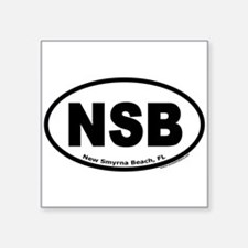 "New Smyrna Beach, FL ""NSB"" Oval Sticker"