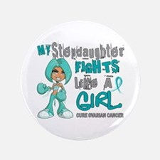 "Fights Like a Girl 42.9 Ovarian Cancer 3.5"" Button"
