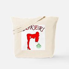 Poker Grrrl Red Tote Bag