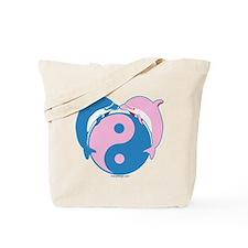 Yin Yang Dolphins Blue/Pink Tote Bag