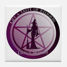 Get a taste of religion, lick a Witch Tile Coaster