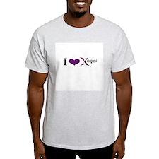 """""""I Love Xocai"""" Ash Grey T-Shirt"""