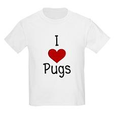 I Love Pugs Kids T-Shirt
