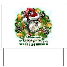 Merry Christmas Min Schnauzer.png Yard Sign