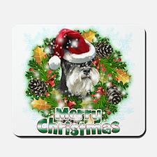 Merry Christmas Min Schnauzer.png Mousepad