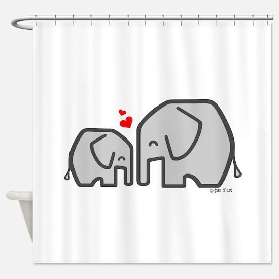 Elephants (4) Shower Curtain