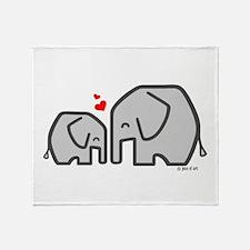 Elephants (4) Throw Blanket