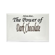 """""""Ask Me About the Power of Dark Chocolate"""" Rectang"""
