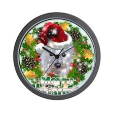 Merry Christmas Westie.png Wall Clock