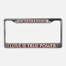 True Power ~ License Plate Frame