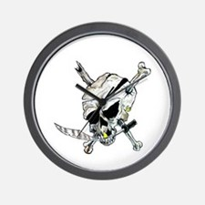 Raider Pirate Skull Wall Clock