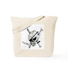 Raider Pirate Skull Tote Bag