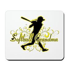Softball Grandma (silhouette).png Mousepad