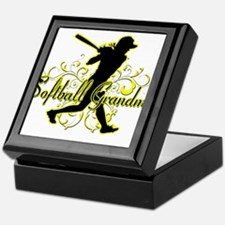 Softball Grandma (silhouette).png Keepsake Box