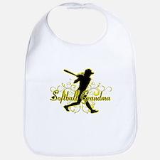 Softball Grandma (silhouette).png Bib