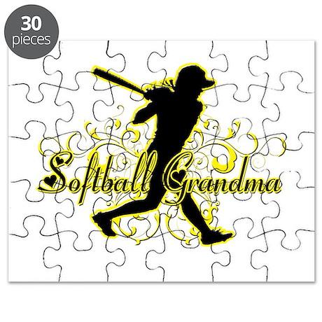 Softball Grandma (silhouette).png Puzzle