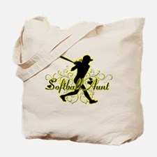 Softball Aunt (silhouette).png Tote Bag