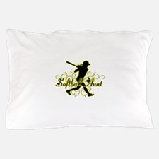 Softball Aunt (silhouette).png Pillow Case