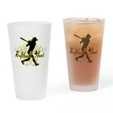 Softball Aunt (silhouette).png Drinking Glass
