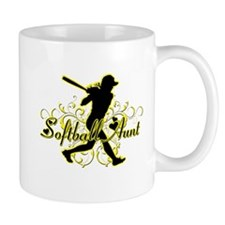 Softball Aunt (silhouette).png Mug
