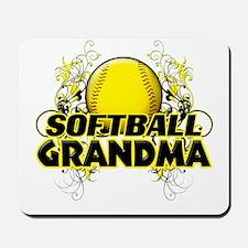 Softball Grandma (cross).png Mousepad
