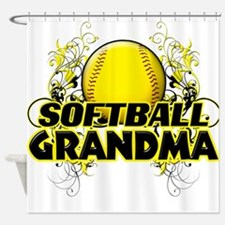 Softball Grandma (cross).png Shower Curtain