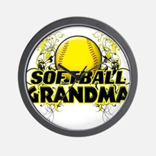 Softball Grandma (cross).png Wall Clock