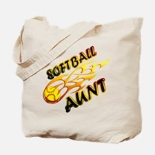 Softball Aunt (flame).png Tote Bag