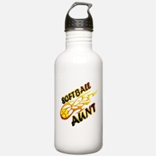 Softball Aunt (flame).png Water Bottle